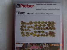 Preiser 17502 Set 56 paniers plusieurs pour Fruits Marché 1/87