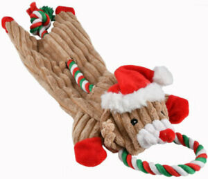 """Ethical Pets SPOT Skinneeez Tugs Dog Toy 21"""" Holiday Christmas"""
