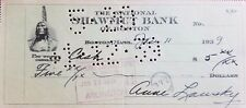 """Mrs. Meyer Lansky Wife of """"Mob's Accountant"""" Hand Signed Check Todd Mueller COA"""