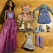 Barbie Ice Skating Outfits with Skates and Trophy plus Doll - Winter Fun