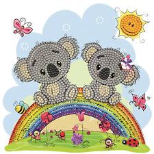 Koala Rainbow Greeting Card Diamond Painting Kit 18x18 Cm Crystal Art Craft UK