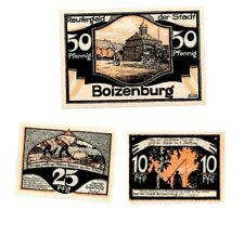 Boizenburg Notgeld 3 Scheine. Los 923. schoeniger-notgeld