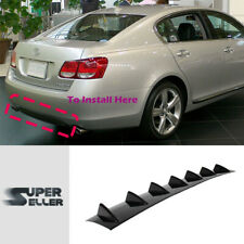 For 06-11 GS350 GS430 GS450h V1 Look Rear Bumper Lip Diffuser Unpainted