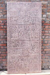 Vintage Tribal Carving Wall Panel,Sliding Door,Barn Door Artisan Original 84x40