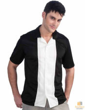 Polyester Rockabilly Short Sleeve Casual Shirts for Men