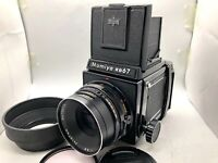 【N.MINT】 Mamiya RB67 Pro + Sekor C 127mm f3.8 + Hood + 120 Film Back From Japan