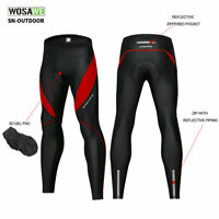 Men's Cycling Long Pants Tights Padded Trousers Bicycle Bike Legging Windproof