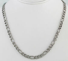 """Stainless Steel 1/4"""" Figaro Neck Chain 20"""" Long with Lobster Claw Clasp"""