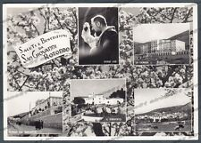 FOGGIA SAN GIOVANNI ROTONDO 04 SALUTI da... VEDUTINE Cartolina FOTOGR viagg 1957