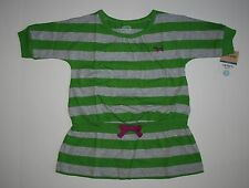 New Carter's Green & Heathe Gray Striped Top 1/2 sleeve Size 5T NWT Dog