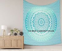 Indian Ombre Mandala Tapestry Queen Cotton Wall Hanging Hippie Bedspread Throw