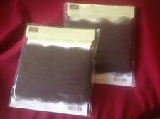 Stampin Up early espresso 3 1/2scalloped tulle ribbon 2 packages