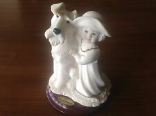 Giuseppe Armani Society Little Girl w Dog Figurine A Perfect Match 1996