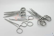 "12 Halsted Mosquito Hemostat Locking Forceps 5"" Curved Surgical Instruments"