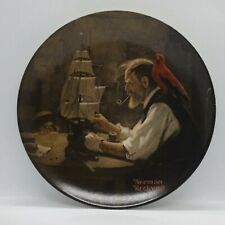 ⭐️ 'NORMAN ROCKWELL' KNOWLES COLLECTOR PLATE 'THE SHIP BUILDER' BOXED WITH CERT.