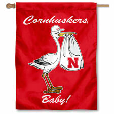 University of Nebraska New Baby Born Decorative House Flag
