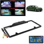 Car Rear View Backup Camera 8 IR Night Vision US License Plate Frame CMOS Cam WT