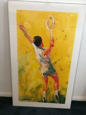 "Leroy Neiman ""BIG SERVE"" framed Print - tennis art"