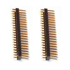 2x  40 pin GPIO Headers - 2x Male Straight -  for Raspberry Pi 3 / Zero / Zero W