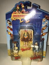 Dreamworks CHICKEN RUN Figures Rocky Mac & Fowler Playmates Cake Toppers NEW  J