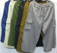 Mens 3/4 shorts Pants cotton hippy Boho Comfy Unisex Summer weight hippie XL