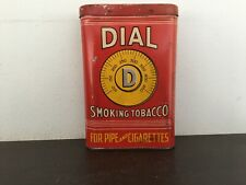 Vintage empty Dial pocket tobacco tin-antique-advertising