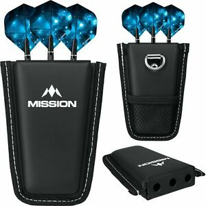 Mission Pod Black Dart Case For Fully Assembled Darts. Pocket Size. Free Flights