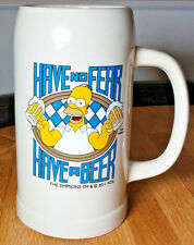 """THE SIMPSONS HOMER SIMPSON """"Have No Fear, Have A Beer"""" GIANT Mug, Fox, 2011"""