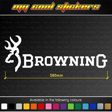 Browning 58cm Vinyl Sticker Decal, ute car hunting deer buck fishing firearm