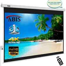 "100"" Electric Motorised HD Projector Screen 16:9 Native Screen With Remote"