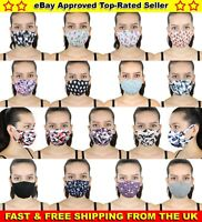 CHEAP FACE MASK MOUTH COVER PROTECTIVE WASHABLE REUSABLE SKULL CHERRY FLORAL UK