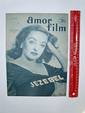 VINTAGE AMOR FILM MAGAZINE W/ BETTE DAVIS JEZEBEL COVER FRENCH MOVIE PIN UP EX+