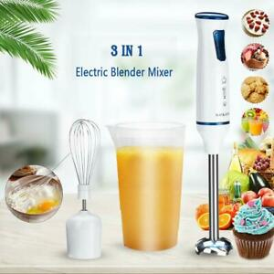3in1 500W Kitchen Hand Blender Immersion Stick Electric Chopper Mixer w/ US Plug