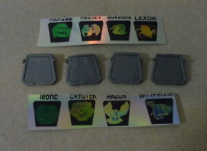 X4 visionaries hasbro plate remplacement gold or metal with hologram