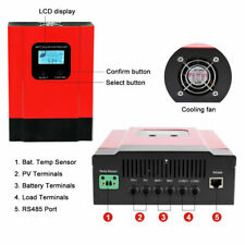 MPPT Solar Charge Controller DC 12V/24V/36V/48V Auto Battery Regulator 50A 60A