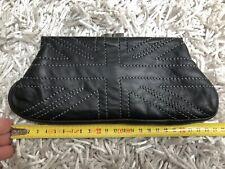 Portemonnaie pochette Lee Cooper cuir noir Union Jack flag leather wallet