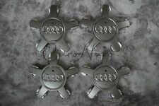 4 x Audi Alloy 5 Star Spyder Wheel Centre Caps Grey Hub Badge 135mm  A3 A4 A5 A6