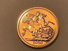 More details for 2020 full gold sovereign queen elizabeth ii. 5th portrait. nice. unc (1)