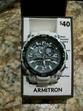Armitron 20/5270 White Band Analog-Digital Chronograph Day/Date Men's Watch. NEW