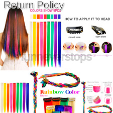 Rhyme 9 Colored Wig Pieces, Clip in Hair, New C9 C