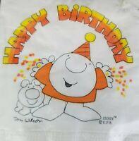 NIP Vtg Ziggy Tom Wilson Happy Birthday 20 Napkins 3 Ply Party Supplies Beverage