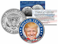 DONALD TRUMP FOR PRESIDENT 2016 Colorized JFK Half Dollar U.S. Coin CAMPAIGN