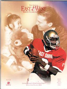 1996--SHRINE EAST-WEST ALL-STAR COLLEGE FOOTBALL--PROGRAM--NMT