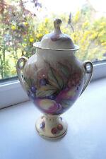 Aynsley Orchard Gold Lidded Urn Vase D Jones 14 cm Fine Bone China British