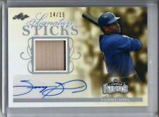 SAMMY SOSA AUTO GAME-USED BAT RELIC PATCH /15 2020 LEAF SIGNATURE STICKS SP CUBS