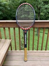 Vintage Donnay Tennis Racquet Store Display Wood Sign Bjorn Borg Pro Rare Find!