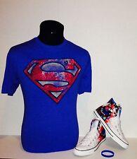 "Brand New- Converse CT Hi DC Comics ""Superman"" SZ 9 w/matching shirt Size L"