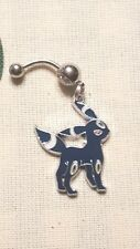 UNBREON  Pokemon  Belly Ring Navel Ring 14G Surgical Steel Dangle