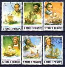 Bateaux St Thomas et prince (63) série complète de 6 timbres oblitérés