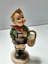 Hummel Goebel Figurine Village Boy Basket 513/0  stands 4""